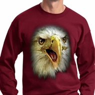 Mens Eagle Sweatshirt Big Eagle Face Sweat Shirt