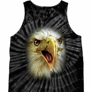 Mens Eagle Tanktop Big Eagle Face Tie Dye Tank Top