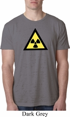 Mens Fallout Shirt Radioactive Triangle Burnout Tee T-Shirt