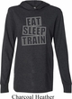 Mens Fitness Shirt Eat Sleep Train Lightweight Hoodie Tee