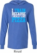 Mens Fitness Shirt I Train For Pizza Lightweight Hoodie Tee