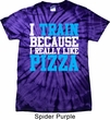 Mens Fitness Shirt I Train For Pizza Spider Tie Dye Tee T-shirt