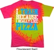 Mens Fitness Shirt I Train For Pizza Tie Dye Tee T-shirt
