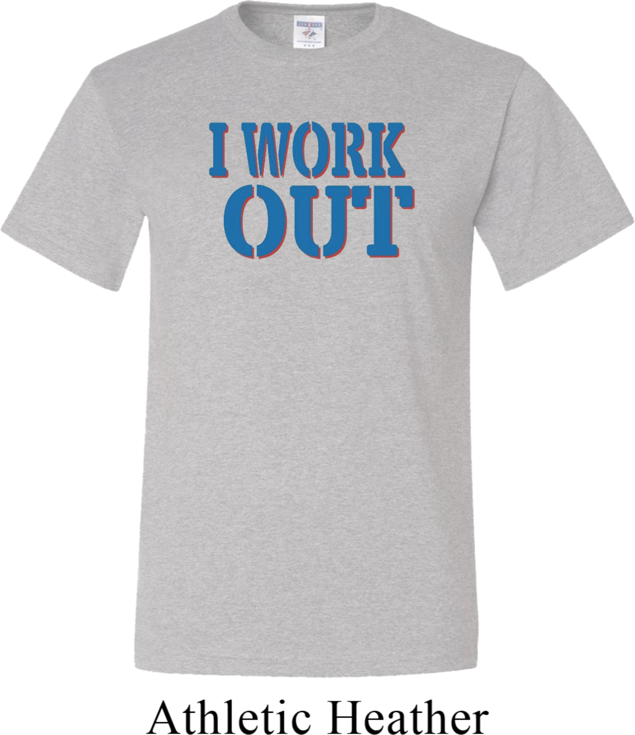 Mens Fitness Shirt I Work Out Tall Tee T Shirt I Work