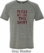 Mens Fitness Shirt Id Flex Tri Blend Tee T-Shirt