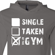 Mens Fitness Shirt Single Taken At The Gym Lightweight Hoodie Tee