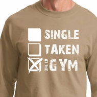 Mens Fitness Shirt Single Taken At The Gym Long Sleeve Tee T-Shirt