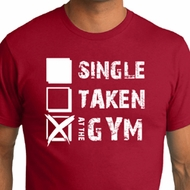 Mens Fitness Shirt Single Taken At The Gym Organic Tee T-Shirt