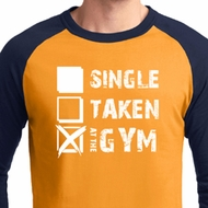 Mens Fitness Shirt Single Taken At The Gym Raglan Tee T-Shirt