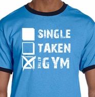 Mens Fitness Shirt Single Taken At The Gym Ringer Tee T-Shirt