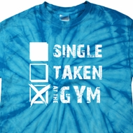 Mens Fitness Shirt Single Taken At The Gym Spider Tie Dye Tee T-shirt