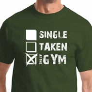 Mens Fitness Shirt Single Taken At The Gym Tee T-Shirt