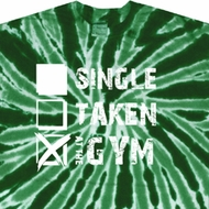 Mens Fitness Shirt Single Taken At The Gym Twist Tie Dye Tee T-shirt