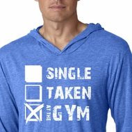 Mens Fitness Shirt Single Taken Gym Lightweight Hoodie Tee T-Shirt