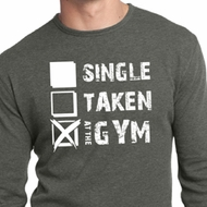 Mens Fitness Shirt Single Taken Gym Long Sleeve Thermal Tee T-Shirt