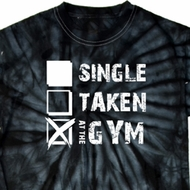 Mens Fitness Shirt Single Taken Gym Long Sleeve Tie Dye Tee T-shirt