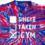 Mens Fitness Shirt Single Taken Gym Patriotic Tie Dye Tee T-shirt