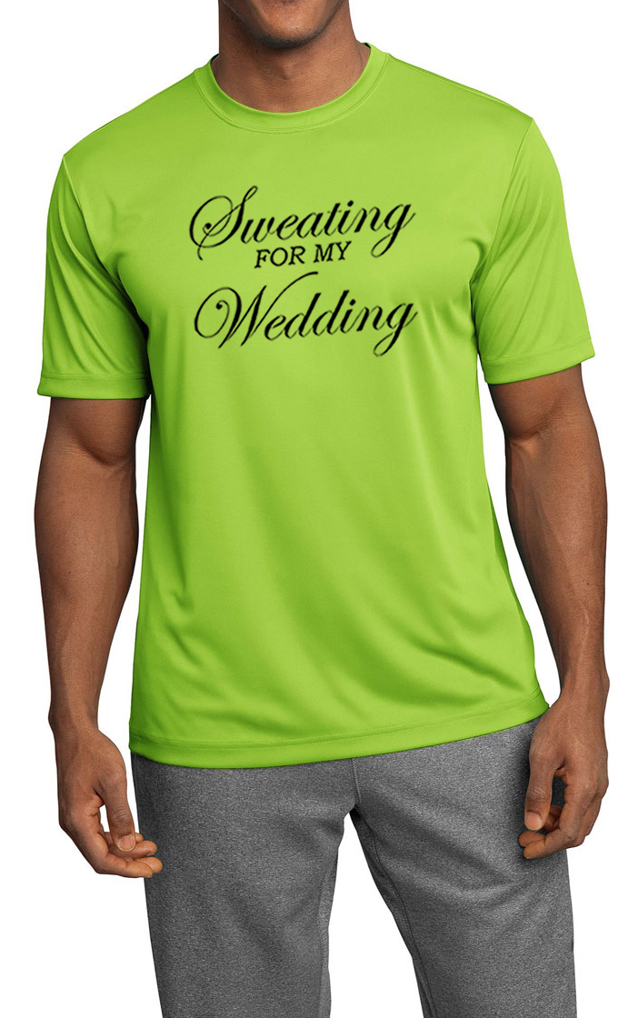 Mens fitness shirt sweating for my wedding moisture for Sweat wicking t shirts