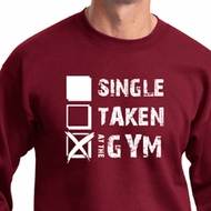 Mens Fitness Sweatshirt Single Taken At The Gym Sweat Shirt