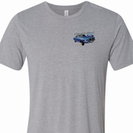 Mens Ford American Muscle 1967 Mustang Pocket Print Tri Blend Crewneck