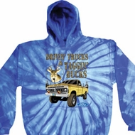 Mens Ford Hoodie Driving and Tagging Bucks Tie Dye Hoody