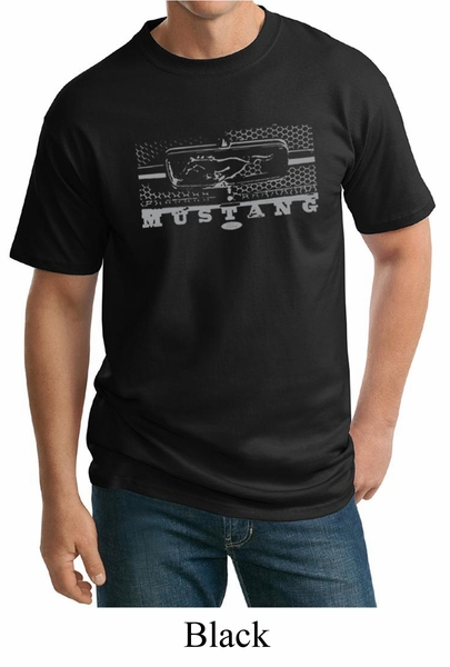 mens ford mustang shirt honeycomb grille tall tee t shirt. Black Bedroom Furniture Sets. Home Design Ideas