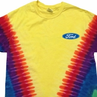 Mens Ford Shirt Ford Oval Pocket Print Premium Tie Dye Tee T-shirt