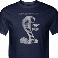 Mens Ford Shirt 50 Years Cobra Tall Tee T-Shirt