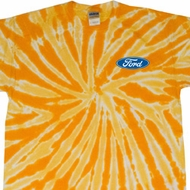 Mens Ford Shirt Ford Oval Pocket Print Twist Tie Dye Tee T-shirt