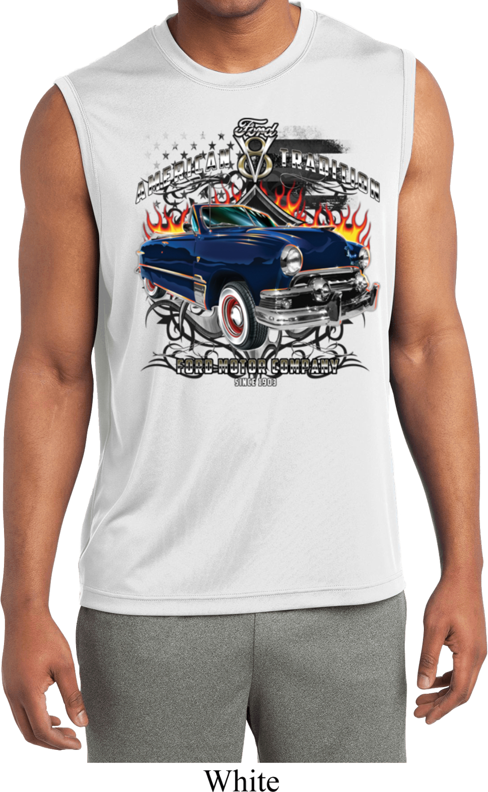 Mens Ford Shirt American Tradition Sleeveless Moisture