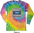 Mens Ford Shirt Built Ford Tough Long Sleeve Tie Dye Tee T-shirt