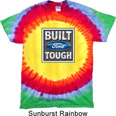 Mens Ford Shirt Built Ford Tough Premium Tie Dye Tee T-shirt