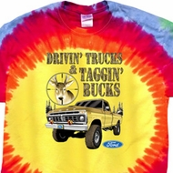 Mens Ford Shirt Driving and Tagging Bucks Premium Tie Dye Shirt