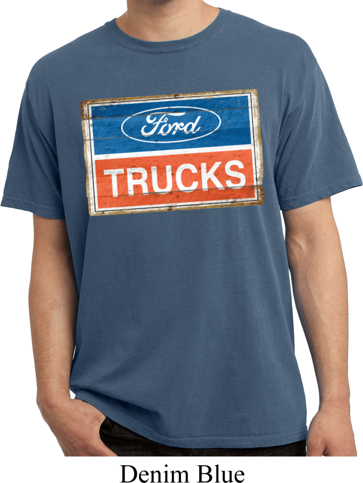 mens ford shirt ford trucks logo pigment dyed tee t shirt. Black Bedroom Furniture Sets. Home Design Ideas