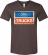 Mens Ford Shirt Ford Trucks Logo Tri Blend V-neck Tee T-Shirt