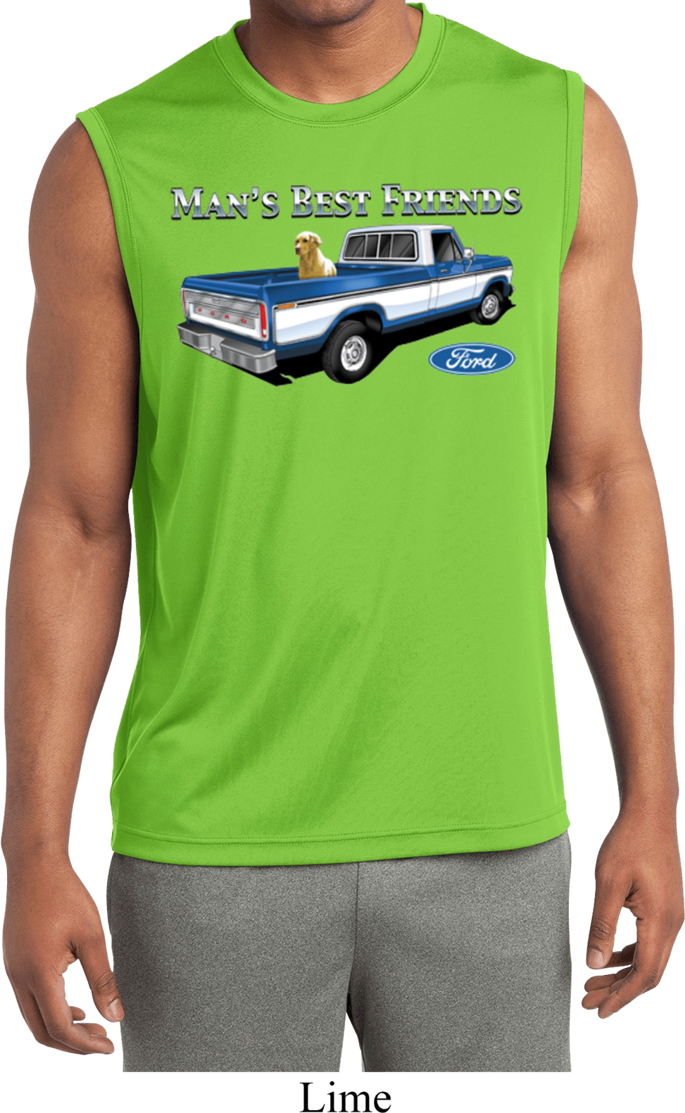 Mens Ford Shirt Mans Best Friend Sleeveless Moisture