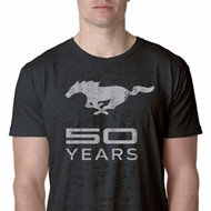 Mens Ford Shirt Mustang 50 Years Burnout Tee T-Shirt