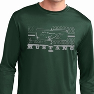 Mens Ford Shirt Mustang Honeycomb Grille Dry Wicking Long Sleeve Shirt