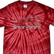 Mens Ford Shirt Mustang Honeycomb Grille Spider Tie Dye Shirt