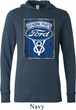 Mens Ford Shirt V8 Genuine Ford Parts Lightweight Hoodie Tee