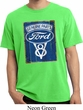 Mens Ford Shirt V8 Genuine Ford Parts Pigment Dyed Tee T-Shirt