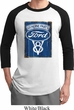 Mens Ford Shirt V8 Genuine Ford Parts Raglan Tee T-Shirt