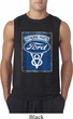Mens Ford Shirt V8 Genuine Ford Parts Sleeveless Tee T-Shirt