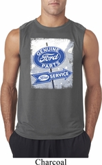 Mens Ford Shirt Vintage Sign Genuine Ford Parts Sleeveless Tee T-Shirt