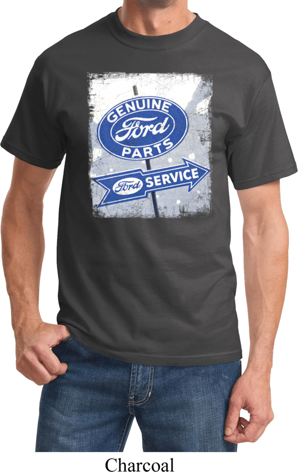 mens ford shirt vintage sign genuine ford parts tee t. Black Bedroom Furniture Sets. Home Design Ideas