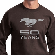 Mens Ford Sweatshirt Mustang 50 Years Sweat Shirt