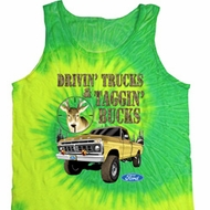 Mens Ford Tanktop Driving and Tagging Bucks Tie Dye Tank Top