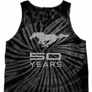 Mens Ford Tanktop Mustang 50 Years Tie Dye Tank Top