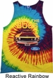 Mens Ford Tanktop Mustang Who's The Boss Tie Dye Tank Top