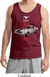 Mens Ford Tanktop Red Stripe Mustang 50 Years Tank Top